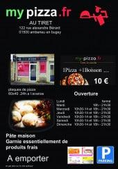 Menu My pizza.fr - carte et menu My pizza.fr Amberieu en Bugey