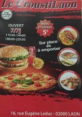 Menu Le Croustilaon - Carte et menu Le Croustilaon Laon