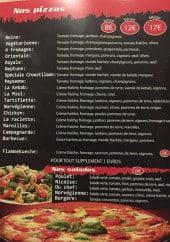 Menu Le Croustilaon - Pizzas et salades