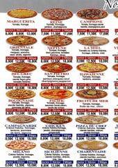 Menu Pizza Food Service - Les pizzas