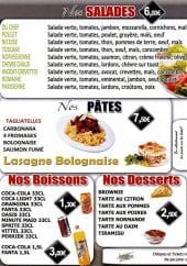 Menu Pizza Food Service - Les salades, les pâtes, les escalopes ...