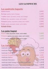 Menu Happy Days - Les sandwiches