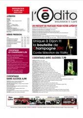 carte et menu L'édito Saint Quentin