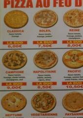 Menu Pizzéria au feu de bois - pizzas
