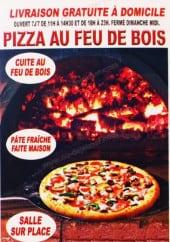 Menu Pizzéria au feu de bois - carte et menu  Pizza au feu de bois