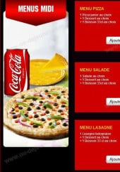 Menu Pronto Pizza - Les Menus Midi