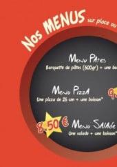 Menu Pizza et Pasta - Les menus