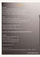 Menu Le Circuit - Les entrées, plats et desserts