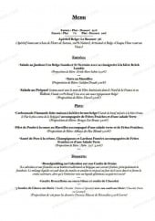 Menu Resto'B - Le menu du soir