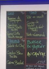 Menu Le Delta - Exemple de menu