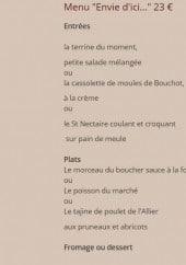 Menu Le Pavillon d'Enghien - Le menu à 23€