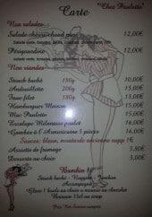 Menu Chez Paulette - Salades, viandes et sauces
