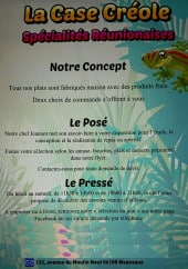 Menu La Case Crêole - Informations