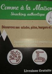 Menu Comme à la maison - Carte et menu Comme à la maison Briancon