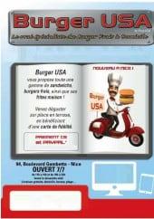 Menu Burger usa - Carte et menu Burger usa Nice
