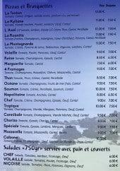 Menu Chez Tonton - Pizzas et salades