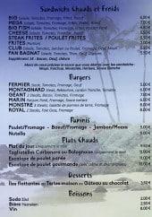 Menu Chez Tonton - Sandwich chaud, burger, desserts et boissons