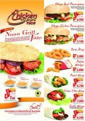 Menu Chicken Spot - Les menus