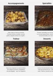 Menu La Brocherie - Les accompagnements, les spécialités, les prestations traiteur et desserts