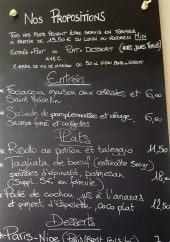 Menu La Cantine de Matthieu - Un extrait de menu du jour