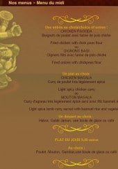 Menu Le bharati - Les menus midi