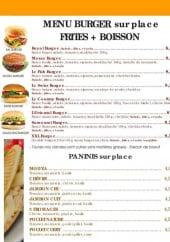 Menu Namaste - Menu burger