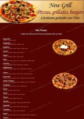 Menu New grill - carte et menu new grill nice
