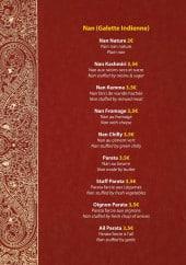 Menu Taj Orient - Les naans
