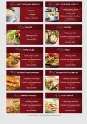 Menu Histoire de pains - Les menus