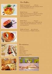 Menu Le Bistrot des Toqués - Les buffets et plats uniques