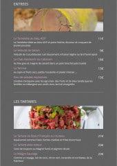Menu Le cabanon - Les entrées et tartares