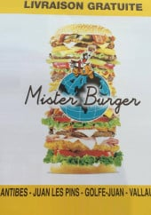 Menu Mister Burger - Carte et menu Mister Burger Juan les Pins