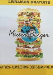 Menu Mister Burger - Carte et menu Mister Burger Juan les Pins