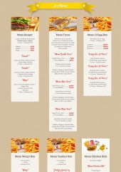 Menu Chicken World - Les menus