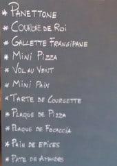 Menu Il fornaio - Les information sur les menus
