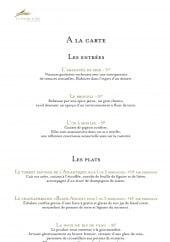 Menu La palme d'or - Les entrées et plats