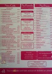 Menu Le Bistrot Broc - Les salades, formules, pizzas...