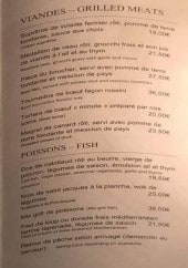 Menu Le bistrot Du Suquet - Les viandes et poissons