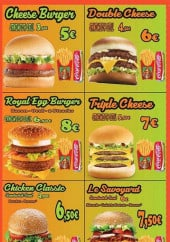 Menu Le Republik - Les burgers
