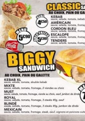 Menu Mustkebab - Menus sandwiches