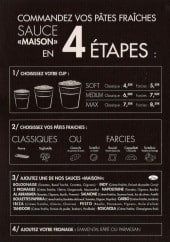 Menu Pasta et Cie - Informations