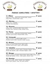 Menu Piadineria Forville - Charcuterie