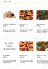 Menu Star Di Pizza - Les créations