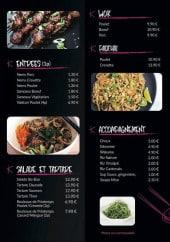 Menu Ksushi - Entrées, salades, tartares,...