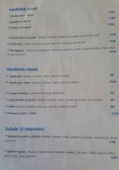 Menu Bar de l'Auberge - Sandwiches et salades