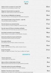 Menu Le Mas de Peyrebelle - Les plats et desserts