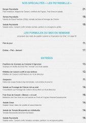 Menu Le Mas de Peyrebelle - Les spécialités, formules midi en semaine et entrées
