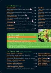 Menu Croc Saveur - Les salades et plats du chef