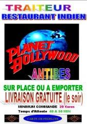 Menu Planet bollywood - Carte et menu Planet bollywood Antibes