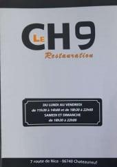 Menu Le CH9 - Carte et menu Le CH9 Chateauneuf Grasse